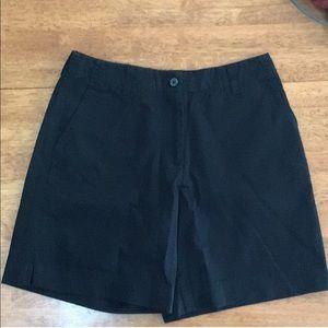 New York & Co Black Flat Front Shorts Size 2